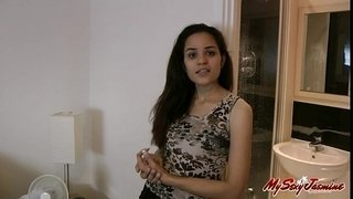 Jasmine-Mathur-Indian-Babe-Giving-Her-Intro-For-Her-Website