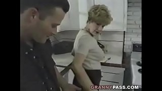 Granny-Fucks-Young-Dick-In-The-Kitchen