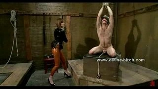 Black-queen-with-firm-body-and-large-breasts-whipping-man-before-fucking-him