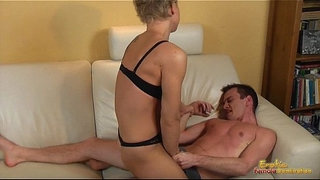 Hotwife-full-of-muscle-take-control-on-her-husband