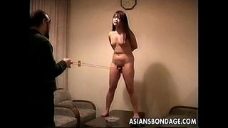 Loud-ass-Asian-slut-getting-slapped-and-is-tied-up