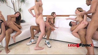 Maria-Devine,-Briana-Bounce,-Ally-Breelsen-&-April-Storm-5on4-Double-anal-orgy!
