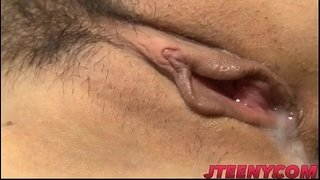 Busty-Japanese-fucked-by-two-horny-males