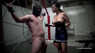Restrained-and-drained-the-milking-of-a-male-slave-starring-goddess-gia