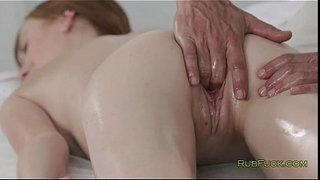 Pale-redhead-pussy-fingered-by-masseur
