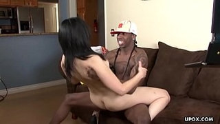 Cougar-getting-her-wet-pussy-hammered-up-by-a-black-dude