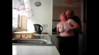 Mum-and-dad-home-alones-having-fun-in-the-kitchen.-Hidden-cam