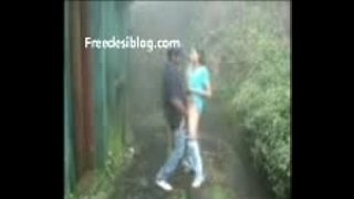 Young-indian-students-have-standing-sex-in-rain