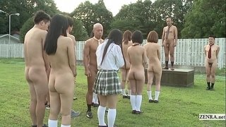 Subtitled-uncensored-outdoor-nudist-Japanese-school