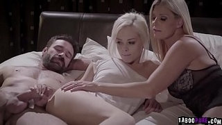 Elsa-Jean-is-excited-to-meet-her-new-foster-parents.They-help-her-in-all-means-including-her-sexual-needs-and-let-her-join-them-in-a-3some-fuck.
