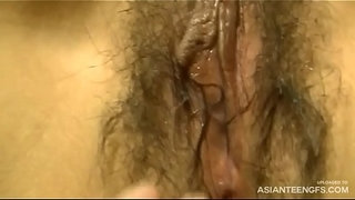 Homemade-Close-up-Japanese-hairy-pussy-exploration-and-fuck