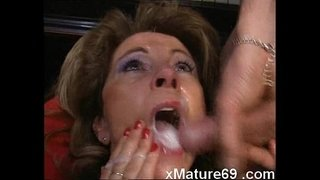 German-mature-housewife-gets-loads-of-cum-on-face