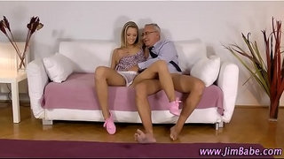 Blonde-amateur-rides-old-guy