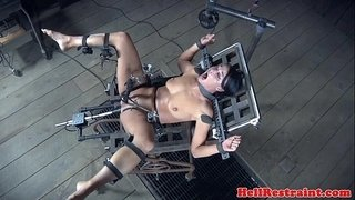 Captured-slave-analy-punished-with-machine