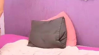 Sexy-Slut-on-Pink-Bed-plays-with-Pink-Pussy-and-Dildo---PornCams4U.com