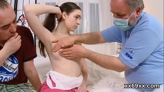 Boyfriend-assists-with-hymen-examination-and-screwing-of-virgin-nympho