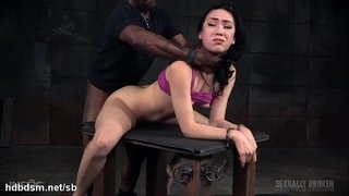Rough-deepthroating-and-ferocious-bondage-fucking-experience-for-cute-babe