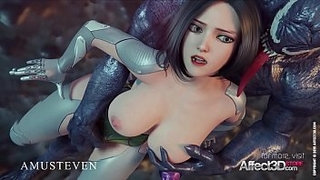 Big-Tits-Angelita-fucked-hard-by-a-monster-in-a-3d-animation