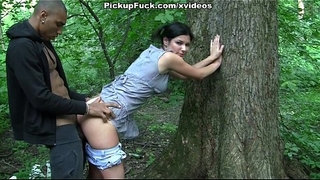 Ebony-hard-fuck-girl-in-the-forest-for-200-euros