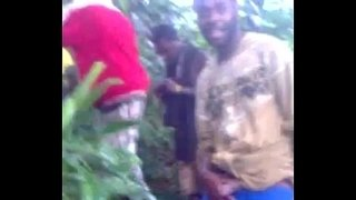 African-Teen-Gangbang-In-The-Forest