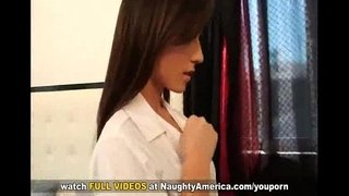 Secretorgasms.com-Brunette-in-sexy-school-girl-dress-seduces-her-friends-brother