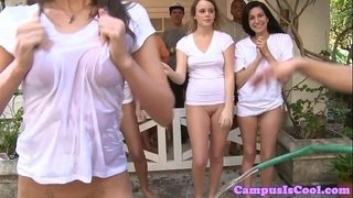 College-bootyshaking-teens-in-wet-t-shirts
