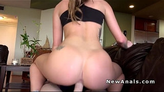 Perfect-booty-brunette-anal-fuck-pov