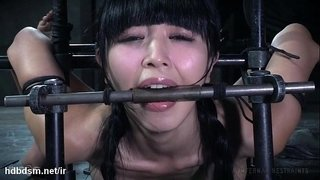 Master's-vigorous-punishment-left-cute-Asian-slave's-pussy-drenched-with-nectar