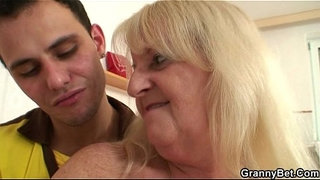 Old-bitch-jumps-on-his-horny-cock