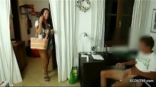 German-Mom-Caught-Young-Step-Son-Masturbate-and-get-Fucked