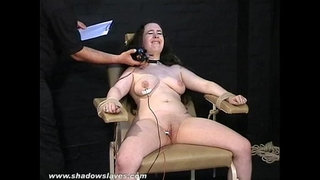 Electro-tortured-bbw-in-harsh-stool-bondage-and-severe-suffering-of-fat-slave