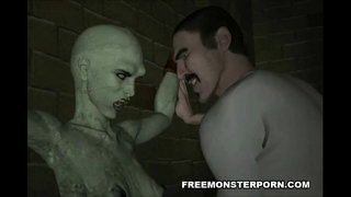 Tied-up-3D-cartoon-zombie-babe-getting-fingered-good