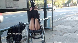Paraprincess-outdoor-exhibitionism-and-flashing-wheelchair-bound-babe-showing