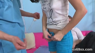 Doc-assists-with-hymen-physical-and-defloration-of-virgin-teen