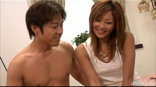 Erena-Kurosawa-in-hot-pants-strips-to-have-her-pussy-filled-with-meat