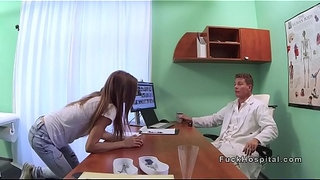Blonde-patient-strips-on-a-doctors-desk
