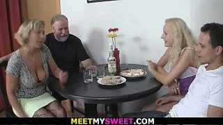 Old-couple-3some-sex-with-son's-blonde-gf